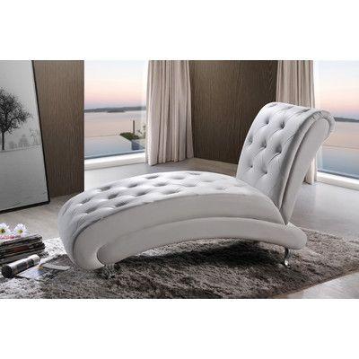 Superior Wholesale Interiors Baxton Studio Pease Chaise Lounge U0026 Reviews   Wayfair