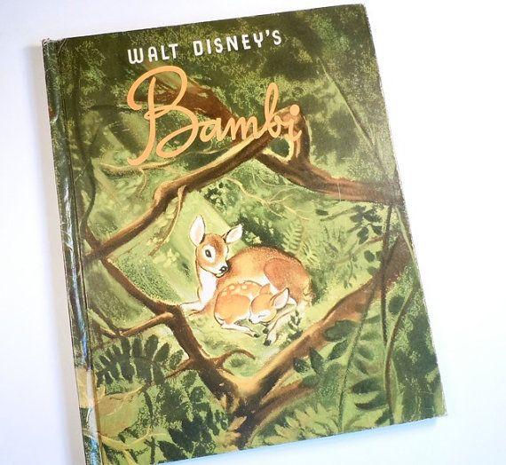Vintage Bambi Book Walt Disney Childrens Book 1941 Bedtime Story