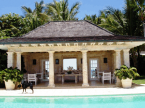 Famous Folk At Home Annette And Oscar De La Renta In The Dominican Republic Tropical Beach Houses Pool Houses Celebrity Houses
