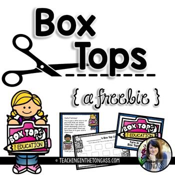 Printable letters for families and signs to help get your Box Top