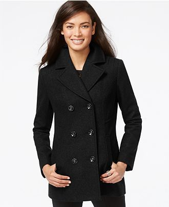 price remains stable new products shop for newest INC International Concepts Double-Breasted Peacoat - Coats ...