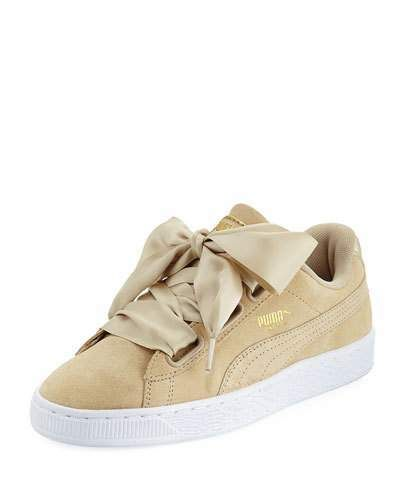 Puma Basket Heart Safari Suede Sneaker, Tan | Puma basket