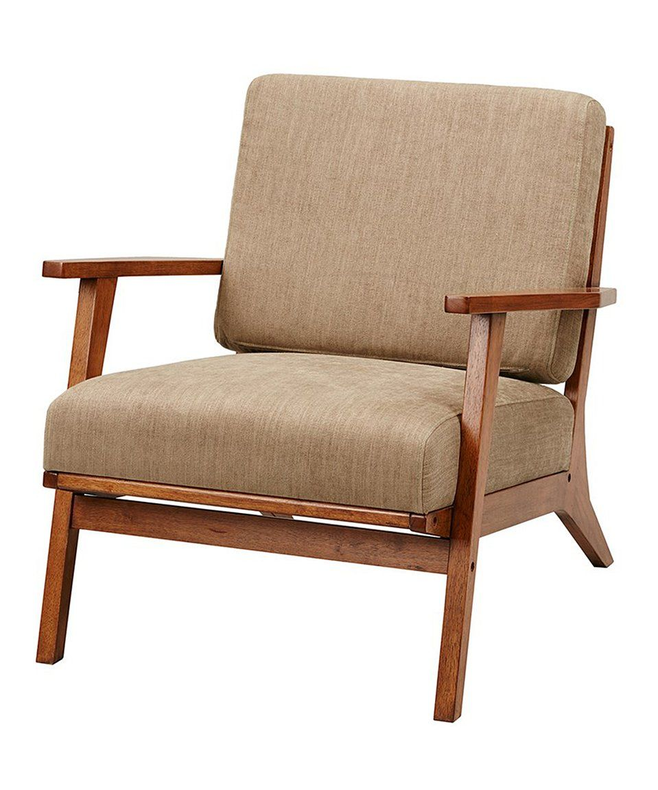 Take A Look At This Mushroom Slat Back Armchair Today
