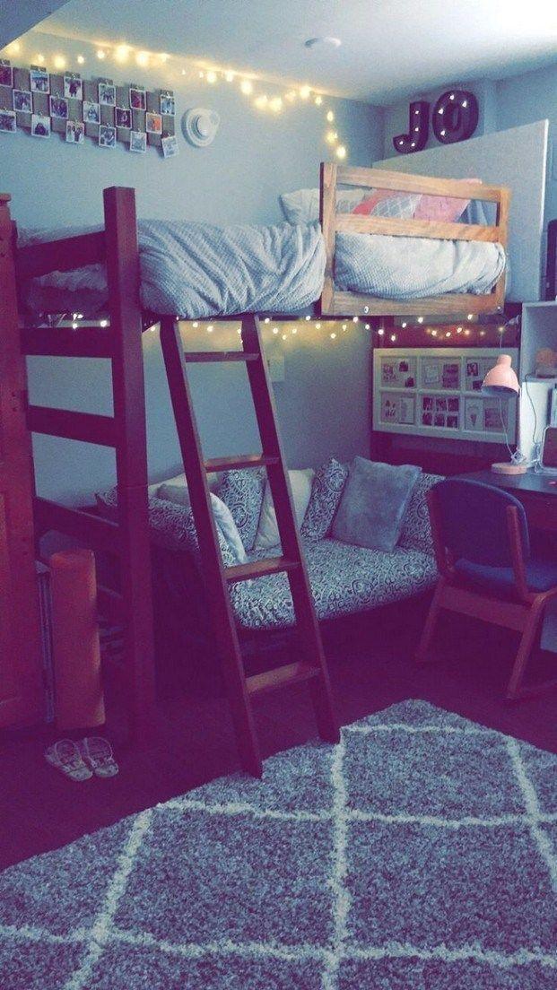 40 niedliche Hochbetten College-Schlafsaal Design-Ideen für Mädchen 12 #dormroomideas #dormroom #collegedormroomideas