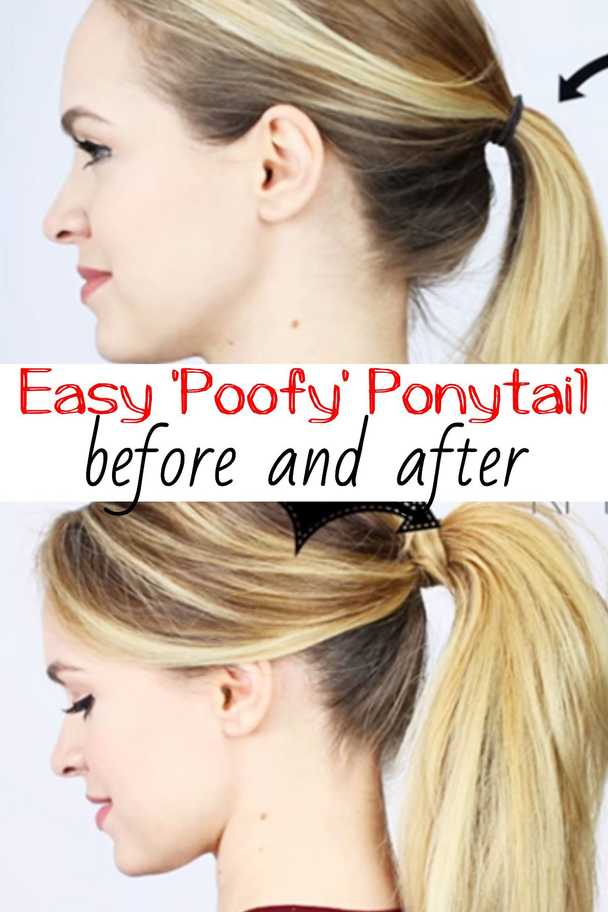 tip: a better and sassier poofy ponytail in less than 5