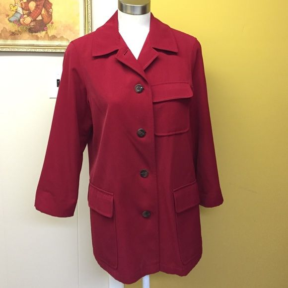 Red blazer jacket petite size | Coats, D and Blazer jacket