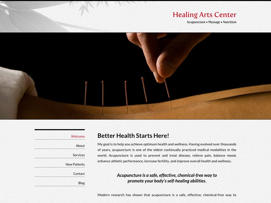 Bambooish Acupuncture Website 00045 Website Design Web Design Website Template