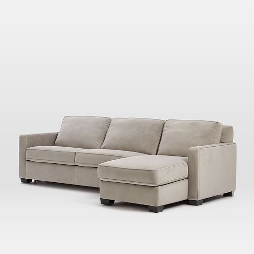 Sofa Tables Henry Set Right Arm Storage Chaise Left Arm Sofa Sleeper Performance Velvet Dove Gray