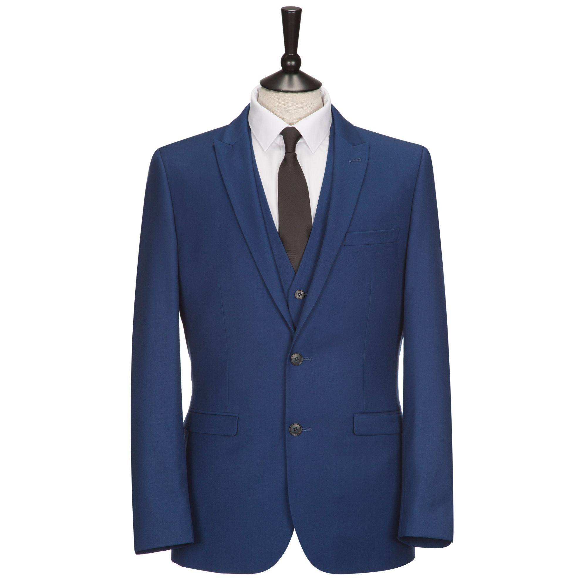 ONESIX5IVE Royal Blue Three Piece Slim Fit Suit
