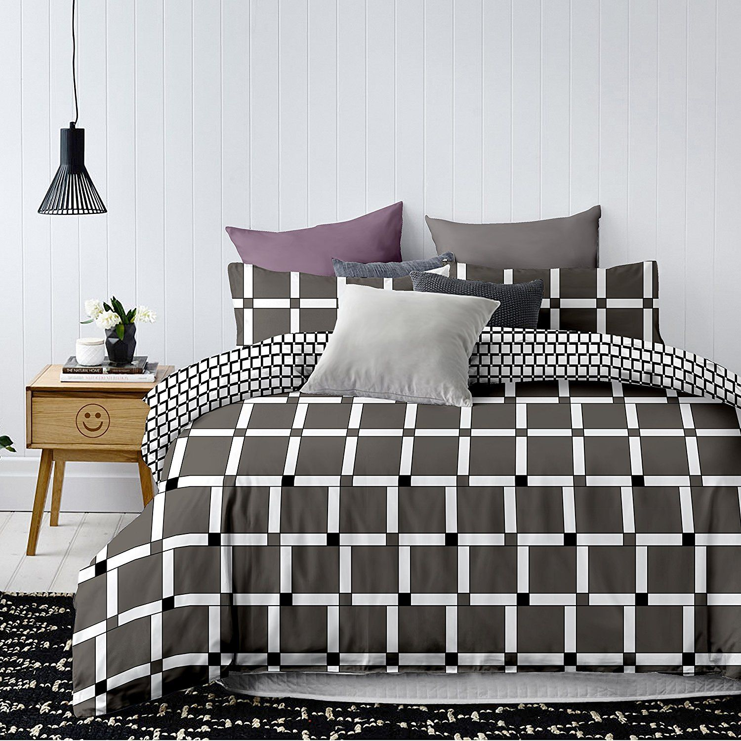 bettwasche schwarz weiss grau. Black Bedroom Furniture Sets. Home Design Ideas
