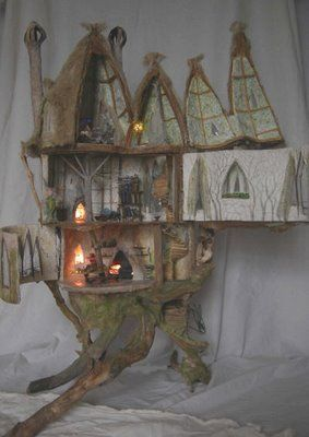 stunning tree house by penny thomson maker of magical miniatures
