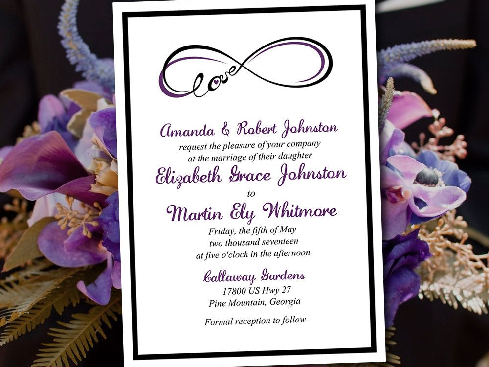 Wedding Invitation Template Download  Invitation Printable
