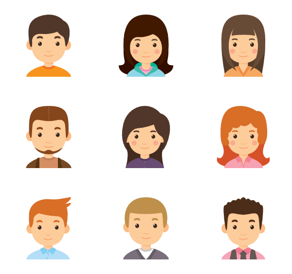 16 Premium Vector Icons Of Young Avatar Collection Designed By Freepik Avatar Kartun Infografis