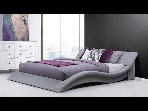 Bett 180x200 Cm Mit Lattenrost Stoffbett Ehebett Doppelbett Polsterbett Grau Vichy Graues Bett Bett Ideen Bettgrossen