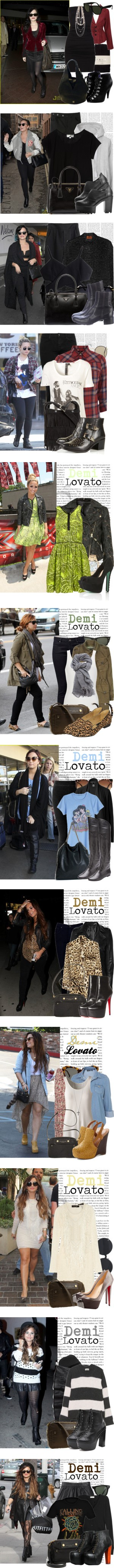 Dress like Demi Lovato by megi32 on Polyvore featuring Falke, H&M, Forever 21, Wolford, Givenchy, Ray-Ban, ALDO, The Lady & The Sailor, Prada and BlackFive