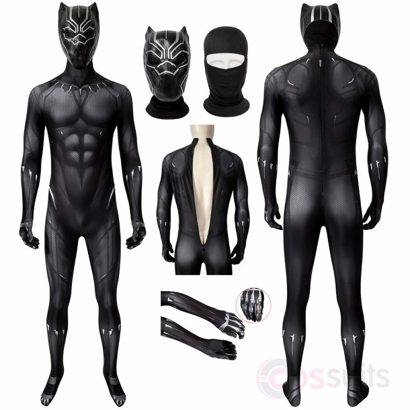 Black Panther Costume T Challa Cosplay Jumpsuit Panther Costume Black Panther Costume Black Panther Character