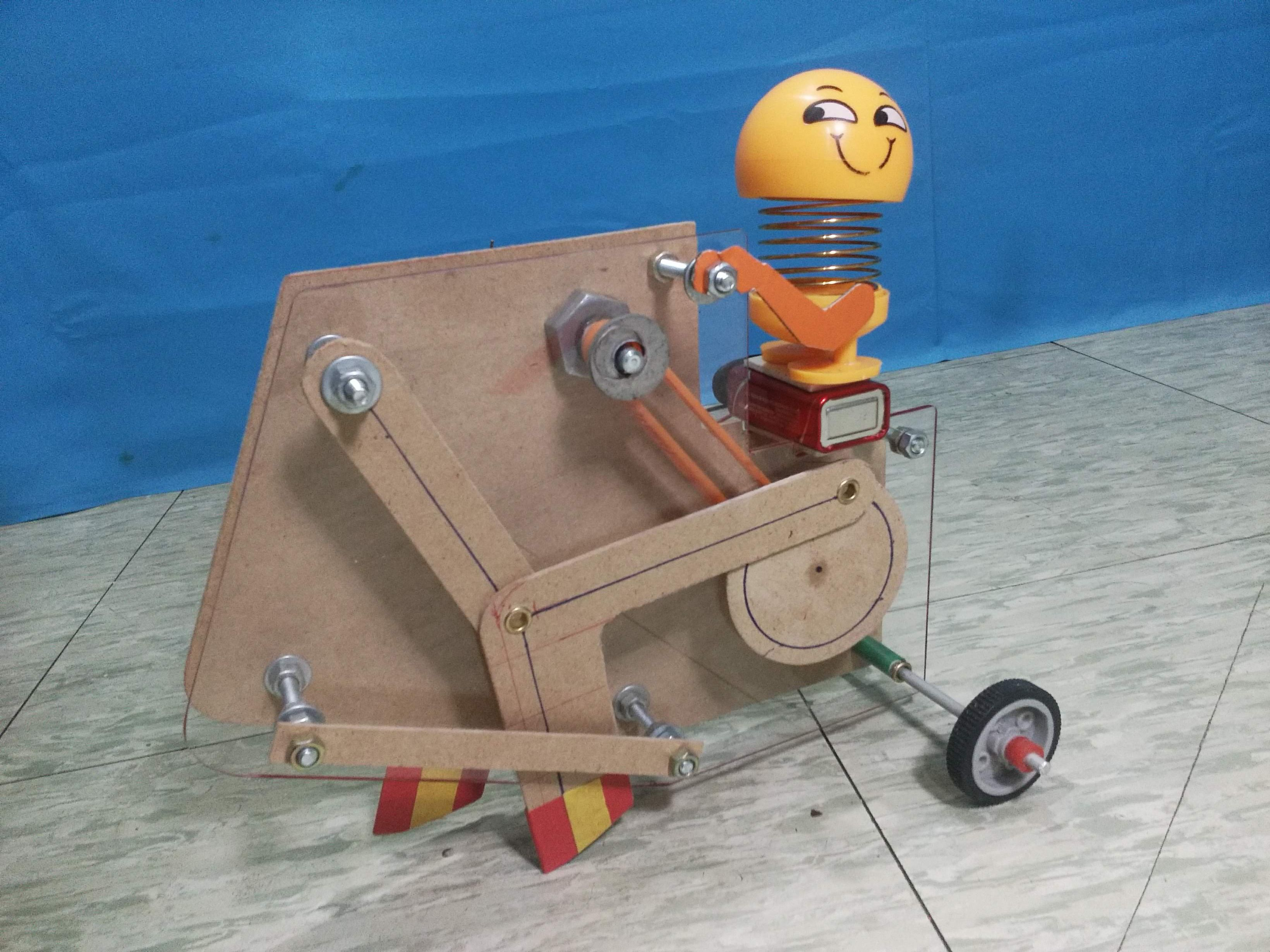 Diy Walking Machine Robot Toy How To Make In