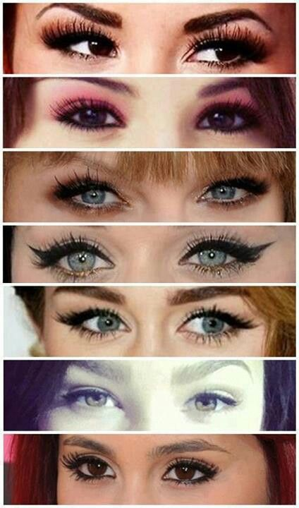Pretty Celeb Eyes comment from top to bottom whose these eyes are