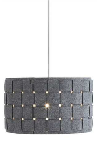 Next Home Grey Felt Weave Easy Fit Shade 16 Retro Bedrooms Woven Shades Lamp Shades