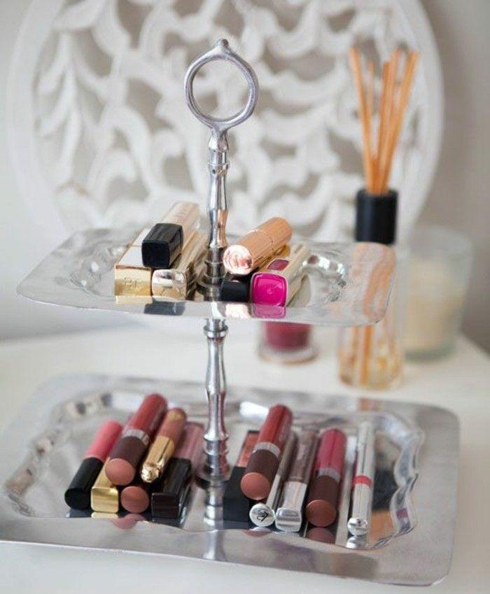 52 idées de rangement make-up en photos et vidéos!   Rangements maquillage, Boite rangement ...