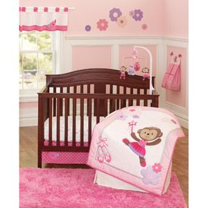 Child Of Mine By Carter S Ballerina Monkey Crib Bedding 3 Piece
