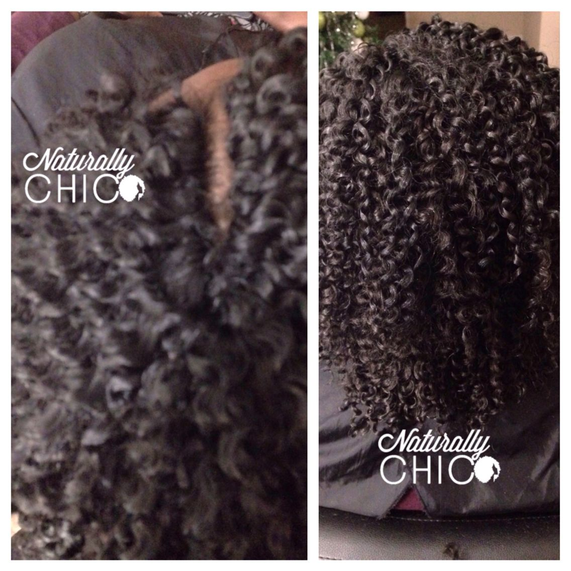 Crochet braids with Knotless part