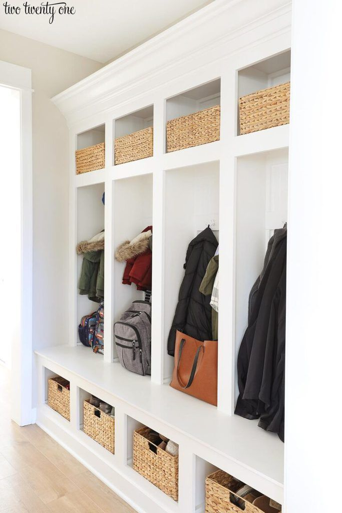 Mudroom Lockers Organization In 2020 With Images Mudroom Lockers Mudroom Locker Organization