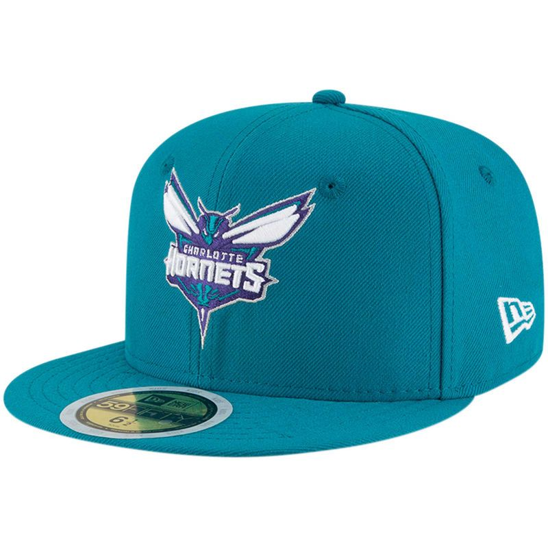 brand new e30e5 3eddb Charlotte Hornets New Era Youth Official Team Color 59FIFTY Fitted Hat –  Teal
