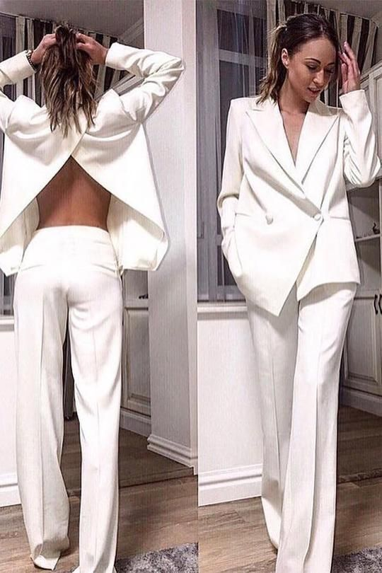 Cream Colored Pantsuit Womens