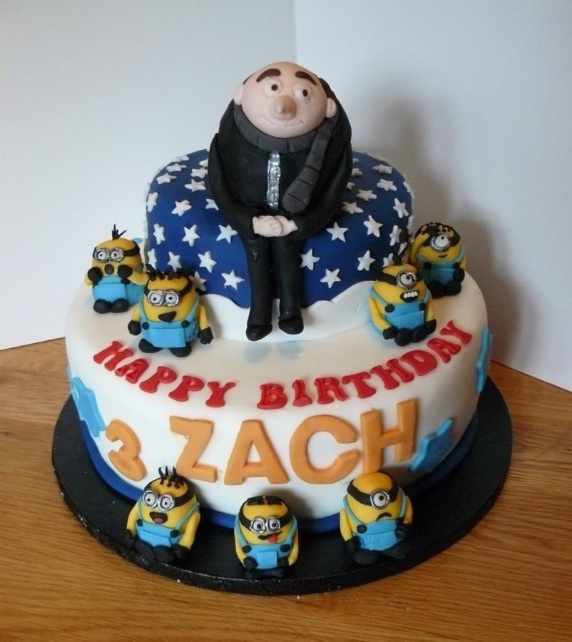 Gru Deable Me Cake Minions