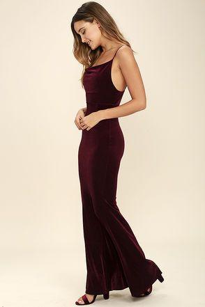 Sorceress Burgundy Velvet Maxi Dress | ♡Women's Fashion ...