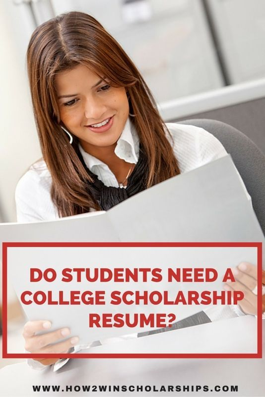 Should you or should you not include a college scholarship resume - not to include in resume