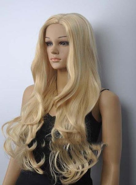 Dreamlike Long Wavy Blonde Synthetic Hair Costume Wig 28 Inches