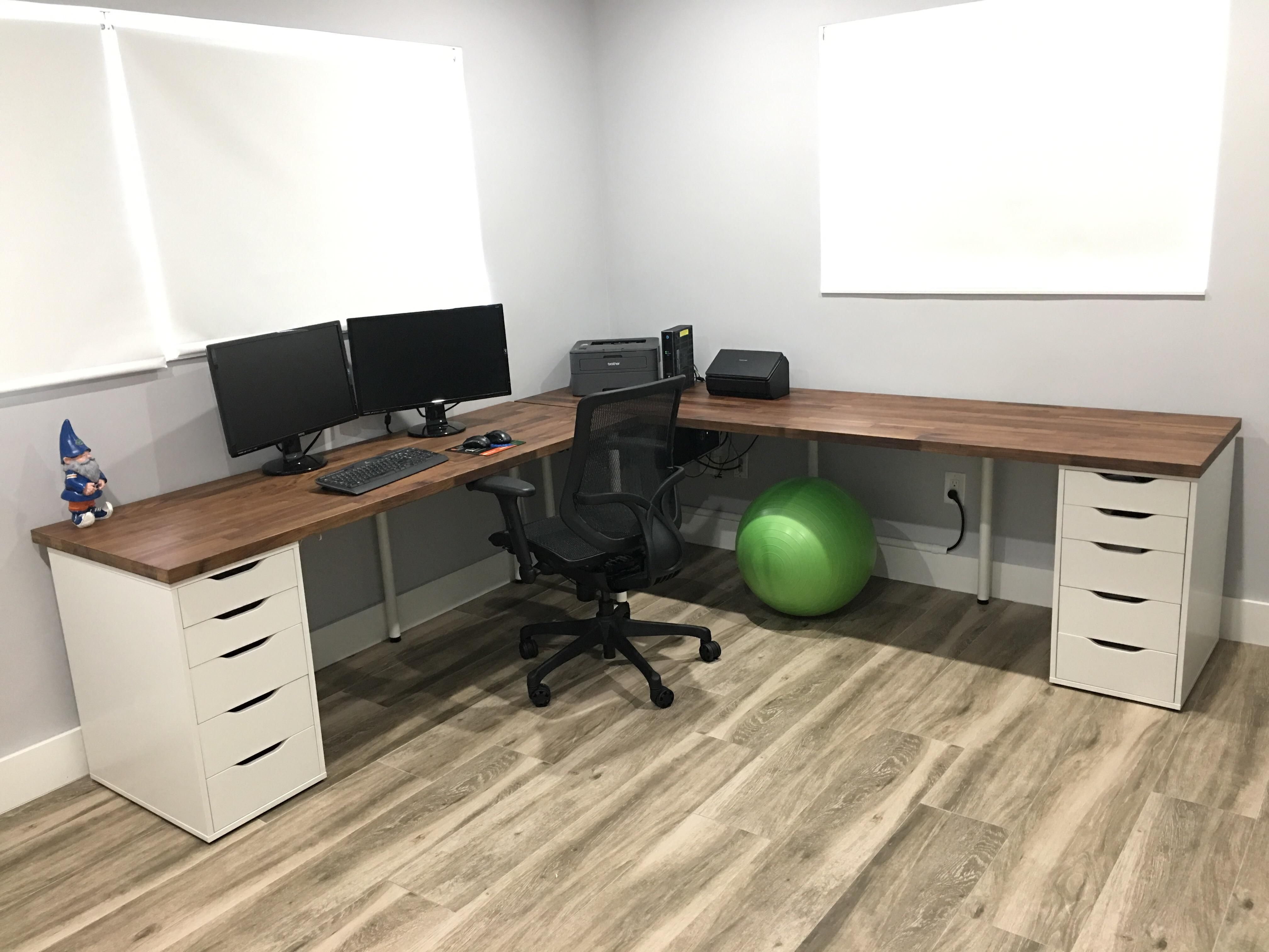 I See Your Karlby And Alex Setup And Raise You Home Office Setup Home Office Design Ikea Office Desk