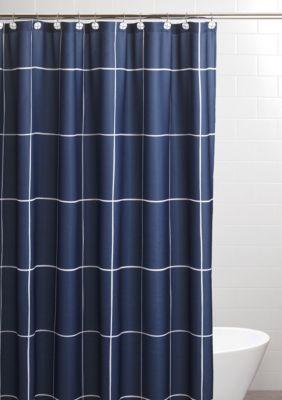 Sparrowhawk Landon 96 Inch Shower Curtain Set Blue White 96