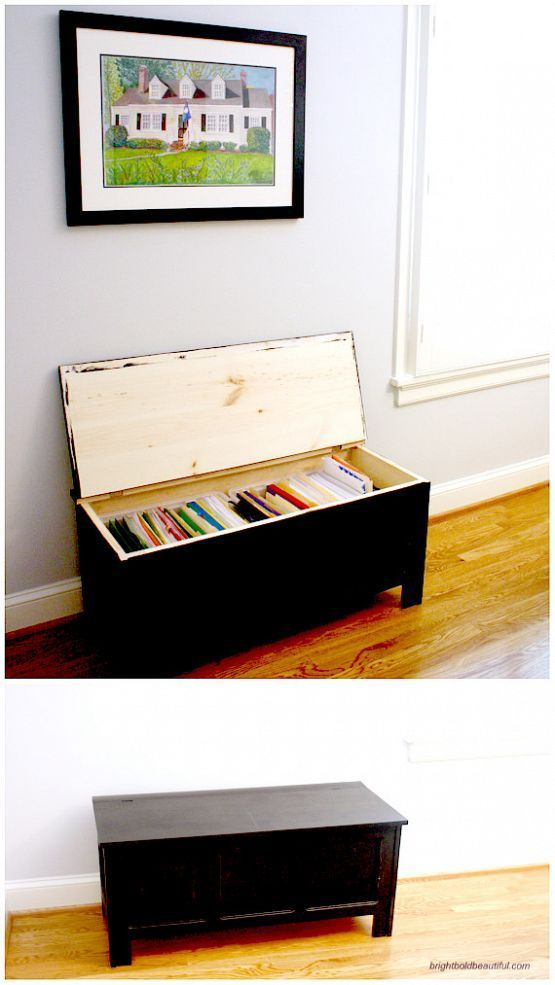 trunk turned into filing cabinet #diy #organizing | ideas
