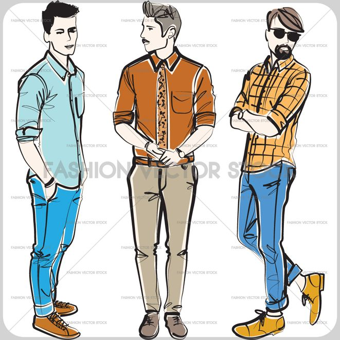 how to draw male jeans