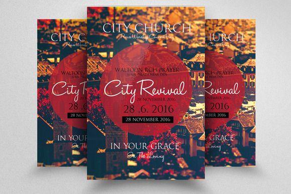 The City Revival Church Flyer Flyer Thanksgiving Art Flyer Design