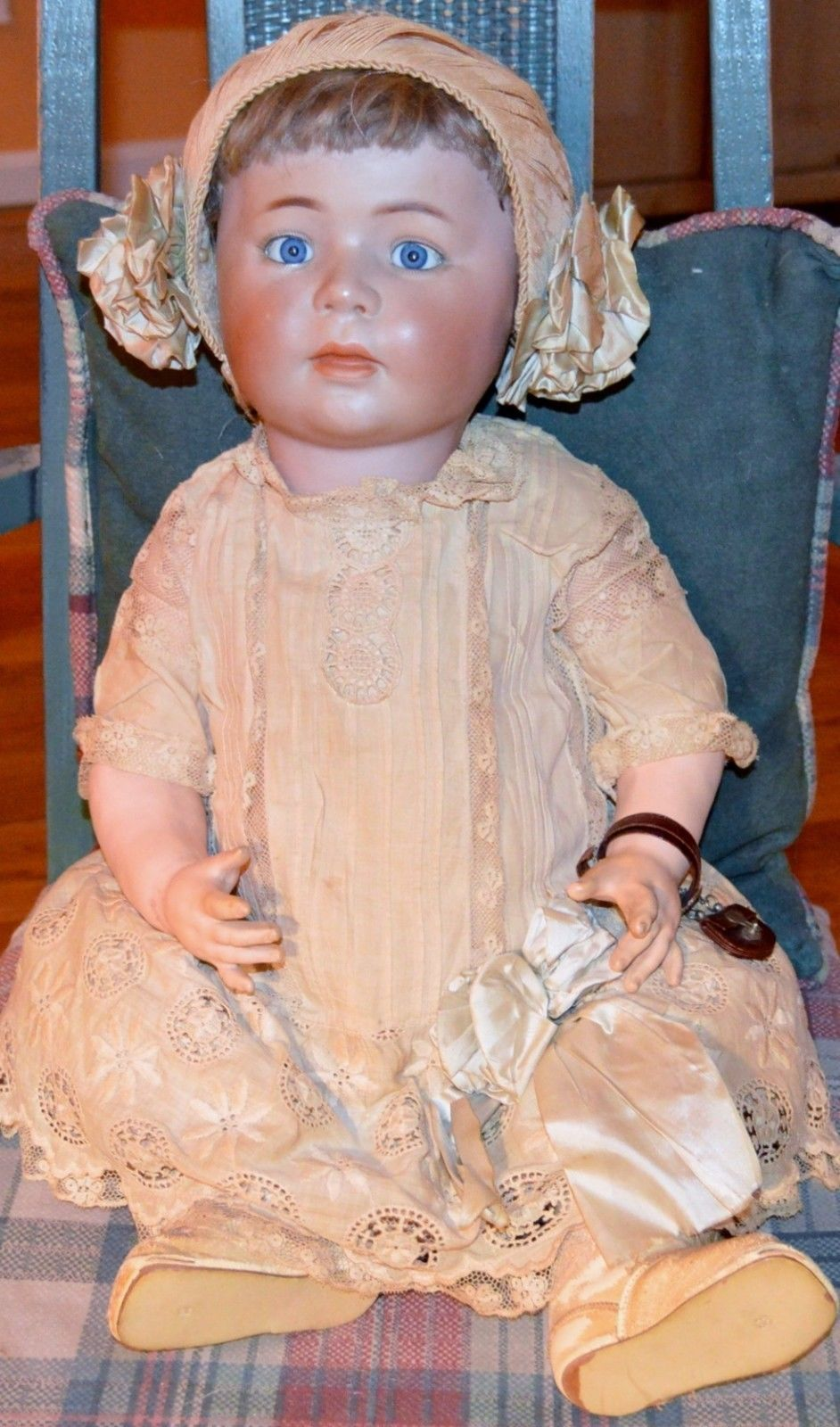 RARE, ALL ORIGINAL!  Antique Simon Halbig 1488 German Character Baby Doll 24"