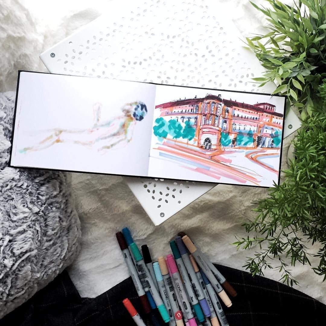 Trying to create some buildings 🙉🌟 . . . #architecturedaily #architecture #copic #copicart #insidemysketchbook #sketchbook #onthebed #paintingart #paintingoftheday #artdaily #artshare #artshelp #artistas #artist_sharing #artist_features #artnews