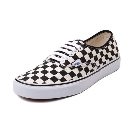 b6f7993bd43 Shop for Vans Authentic Chex Skate Shoe in Black White at Journeys Shoes.  Shop today for the hottest brands in mens shoes and womens shoes at Journeys .com.