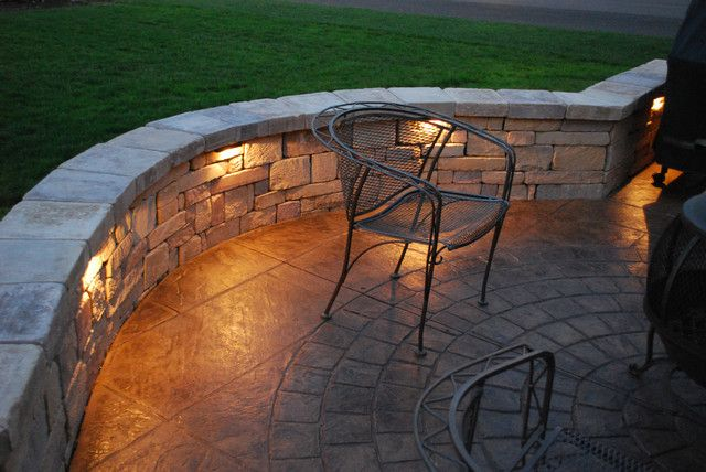 Nice lights against similar wall structure than we were thinking backyard backyard living entertainment hardscape lighting integral integral lighting lighting outdoor lighting patio seating area wall lighting workwithnaturefo