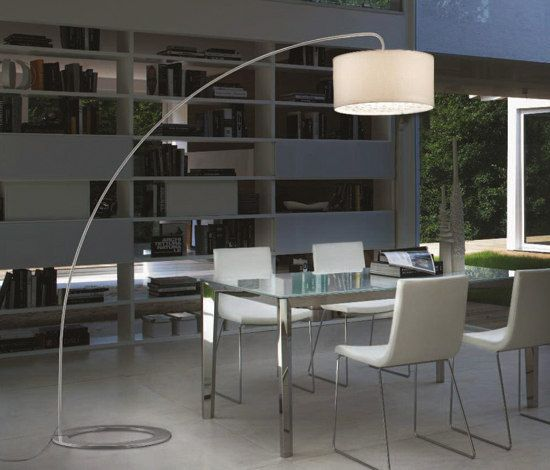 Ginger Floor Lamp By Lucente Architonic Modern Arc Floor Lamp Dining Room Floor Lamp Arc Floor Lamps
