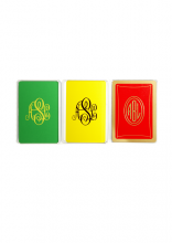 [Social Primer] Monogrammed Playing Cards - $45