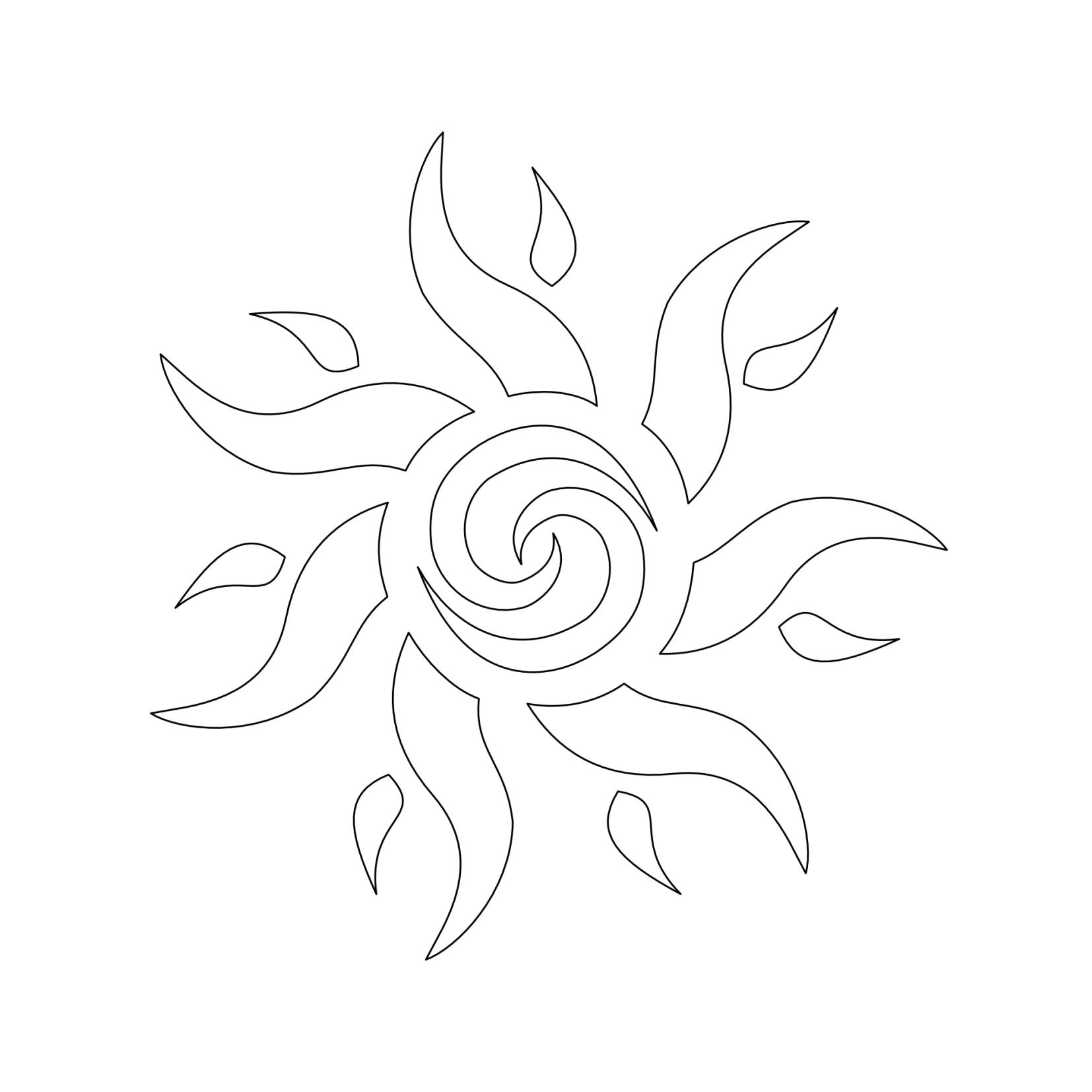 Tattoo Designs Stencils: Sun Stencils Tattoo Stencil Design From Kingdom Pictures