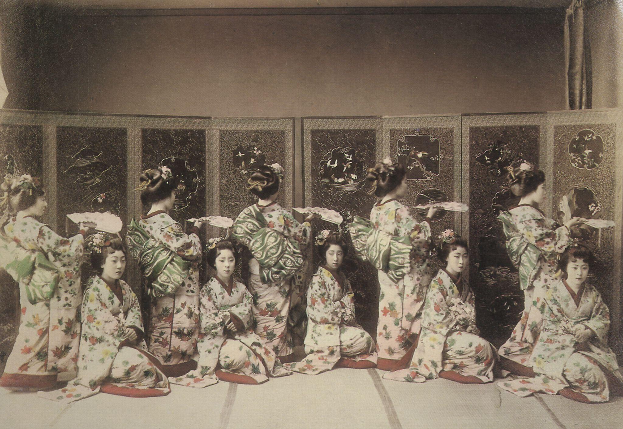 Learning to dance Japan 1900 Back then Япония