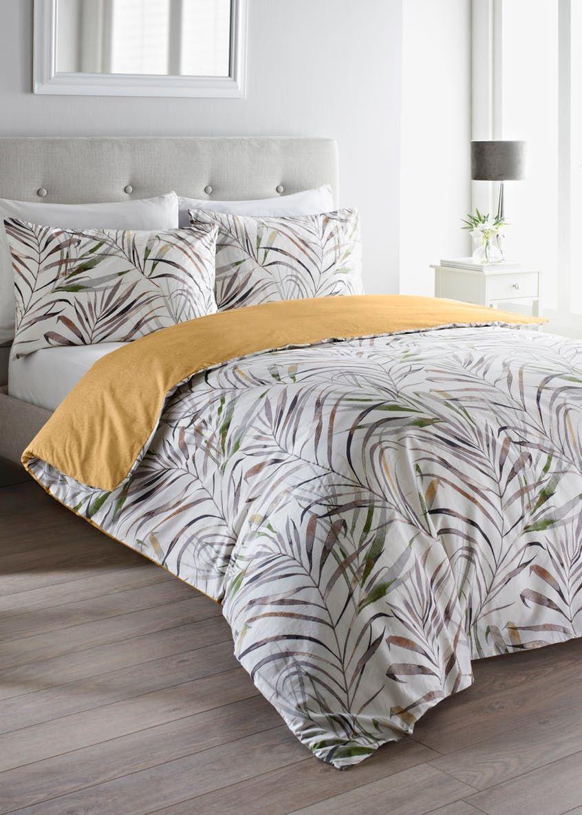 100 Cotton Palm Leaf Duvet Cover Multi in 2020