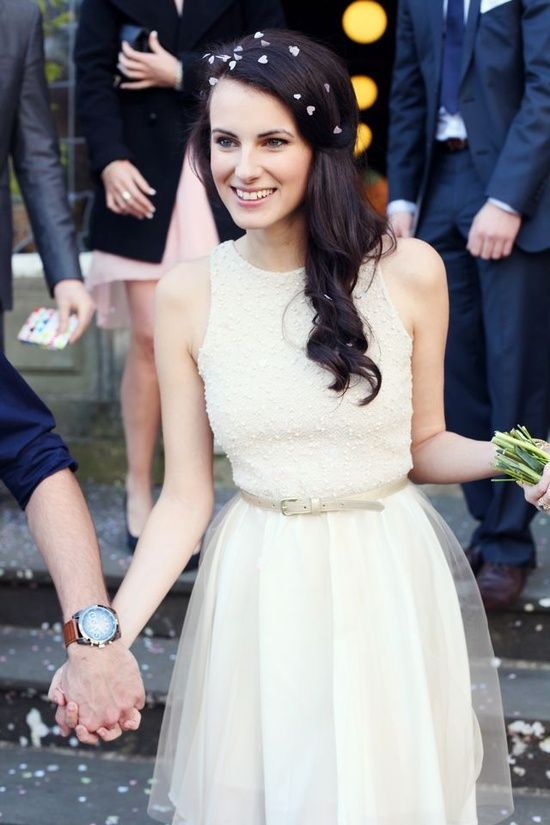 c4161d7b942 beautiful dress for this courthouse wedding - The Tres Chic  casualweddings   chicweddings