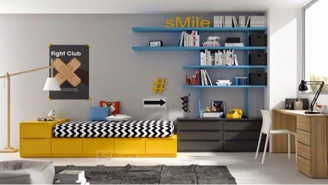 Dormitorios juveniles habitaciones infantiles y mueble - Mueble juvenil diseno ...