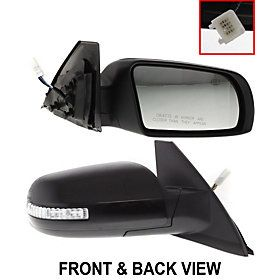 2009 Nissan Altima Se Driver Side View Mirror With Built In Light